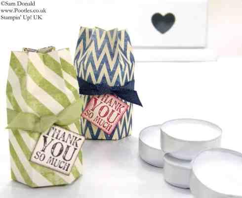 POOTLES Stampin' Up! UK Hexagon Tea Light Box Tutorial 2