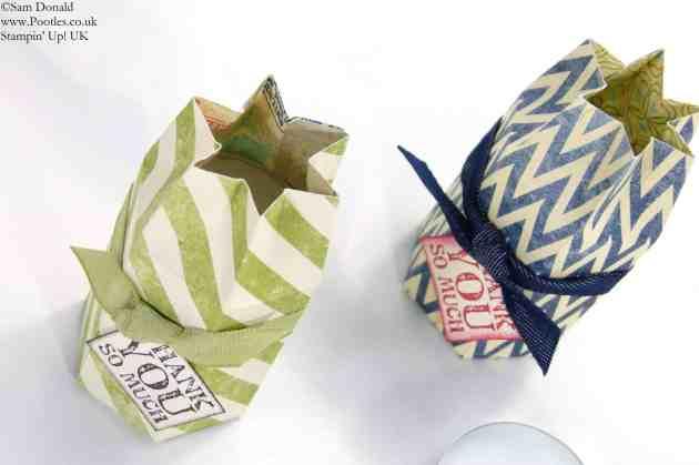 POOTLES Stampin' Up! UK Hexagon Tea Light Box Tutorial