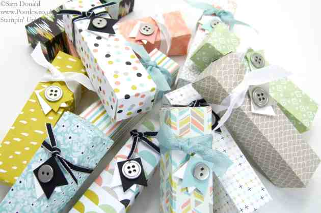 POOTLES Stampin' Up! UK Sale a Bration Dinky Boxes - Sweet Sorbet Showcase Tutorial!