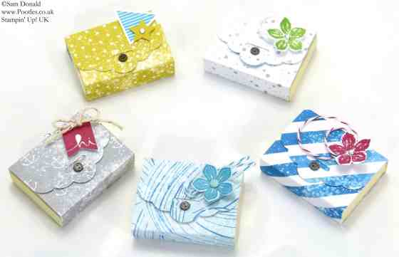 POOTLES Stampin Up UK SPRINGWATCH Scalloped Tag Topper Mini Post It Notes 2