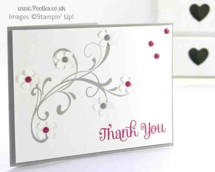 Stampin' Up! UK Independent Demonstrator Pootles - Thank You Four (!) Everything Eleanor!