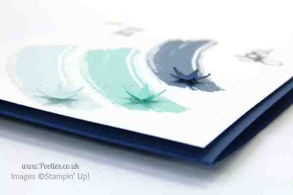 Stampin' up! UK Pootles - Shooting Star Work of Art Stars lifted up detail