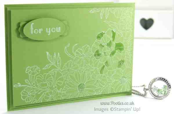 South Hill & Stampin Up Sunday Green White Florals