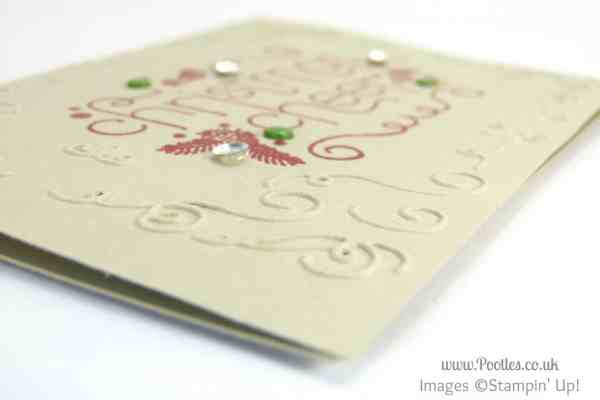Stampin' Up! UK Demonstrator Pootles - Christmas Cheer Catalogue Copy!!! embossing folder detail