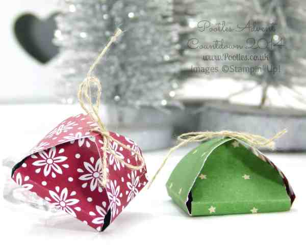 Pootles Advent Countdown #8 Envelope Punch Board After Dinner Chocolate Treat Tutorial