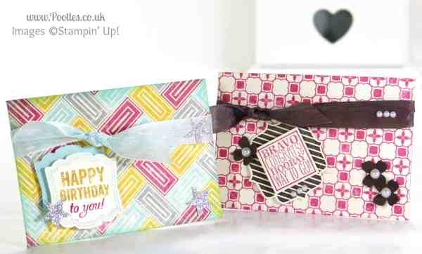 Pootles Stampin' Up! UK Demonstrator - 6x6 Gift Card Holder Tutorial using Stampin' Up! Die