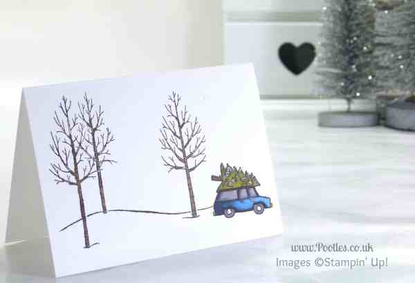 Stampin' Up! UK Independent Demonstrator Pootles - A White Christmas with Stampin' Up! UK car