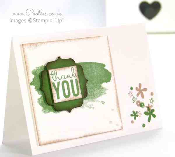 Pootles' Stampin' Up! Thank You Card Tutorial Single Card