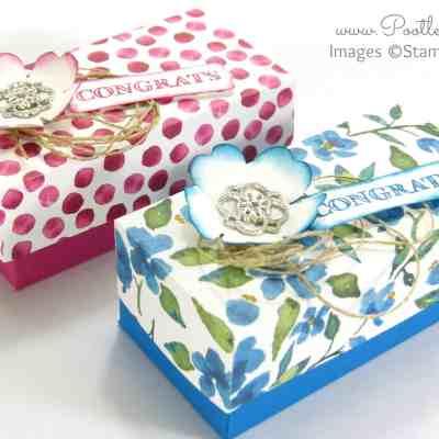 SpringWatch 2015 Rectangular Floral Lidded Box Tutorial