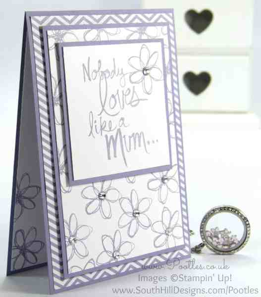 South Hill Designs & Stampin' Up! Sunday Mother's Day Card and Locket Tutorial June