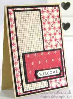 Stampin' Up Independent Demonstrator Pootles - Team Welcome Cards using Flashback DSP