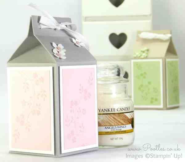 Pootles' Yankee Candle Jar Box Tutorial using Stampin' Up! Supplies