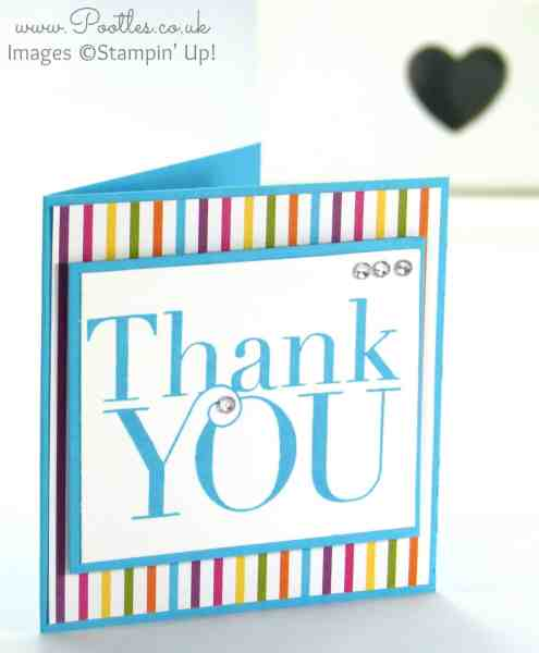 Stampin' Up Demonstrator Pootles - Another Thank You with Sweet Taffy DSP