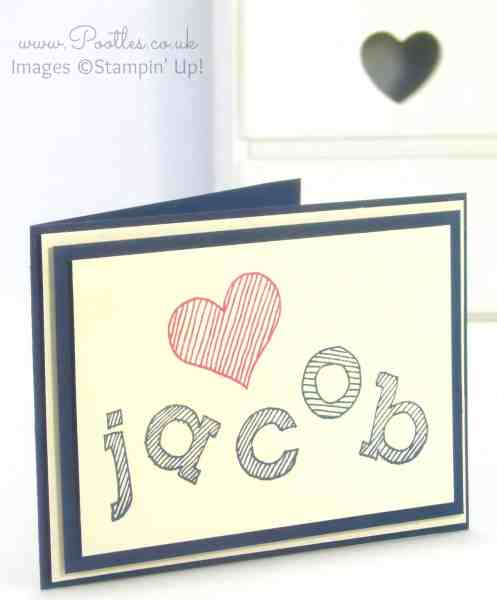Jacob's Epic Alphabet Card!
