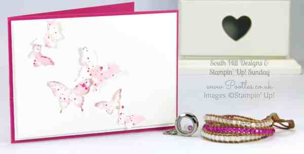 South Hill & Stampin' Up! Sunday Butterfly Aperture Card Tutorial
