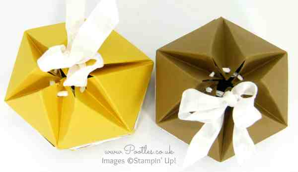 Pootles' Beehive Box Tutorial using Stampin' Up! DSP Overhead
