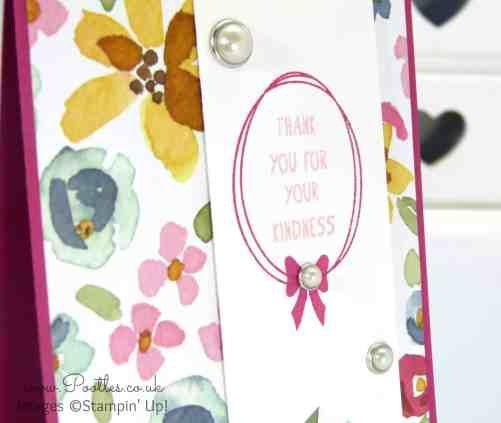 Stampin' Up! Demonstrator Pootles - English Garden Thank You Card Stamped Detail