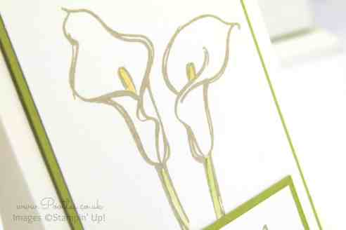 Stampin' Up! Demonstrator Pootles - Calla Lily Card using Remarkable You Stamp Set Blender Pen Detail