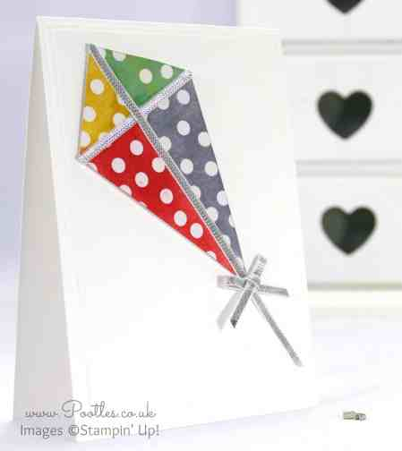 South Hill Designs & Stampin' Up! Sunday Beautiful Sponged Kite Card