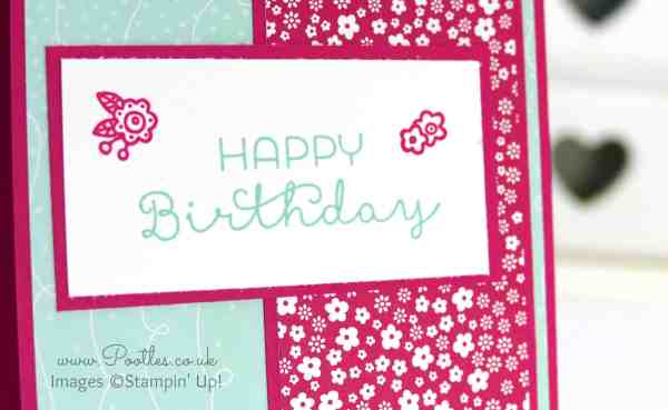 Stampin' Up! Demonstrator Pootles - Cottage Greetings Happy Birthday with Flowers! Close Up