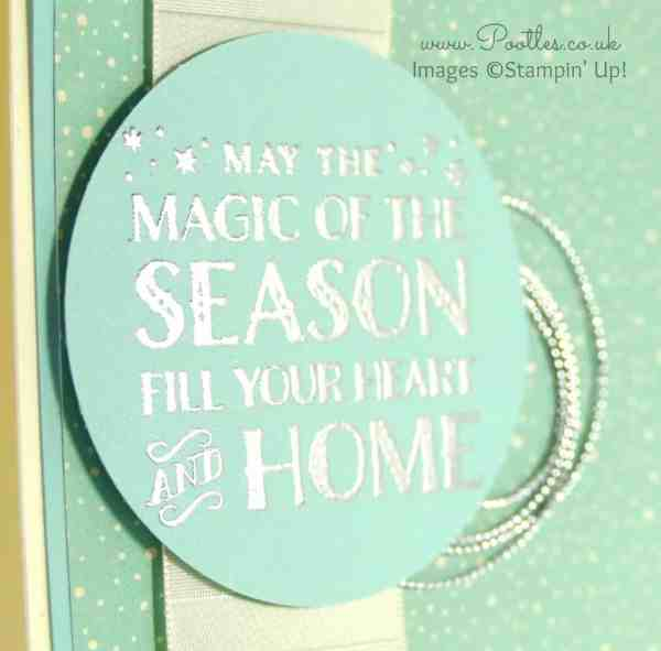 Pootlers Blog Hop - Cozy Christmas Silver Card Close Up
