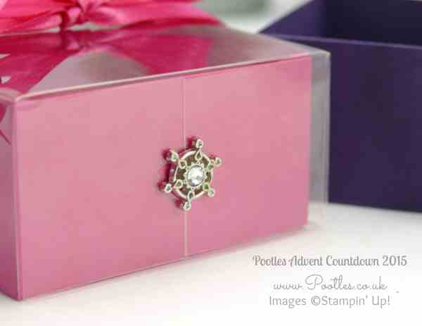 Pootles Advent Countdown #8 Beautiful Colour Acetate Lidded Box Tutorial Close Up