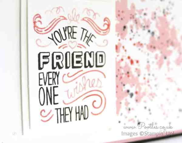 Stampin' Up! UK Demonstrator Pooltes - Friendly Wishes and Quirky Colours Plus Card Giveaway