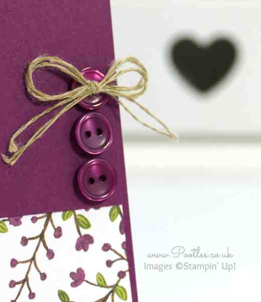 Stampin' Up! Demonstrator Pootles - Lighthearted Leaves go Into the Woods Close Up