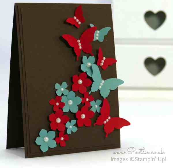 Stampin' Up! Demonstrator Pootles - Colour Clash Butterflies and Flowers