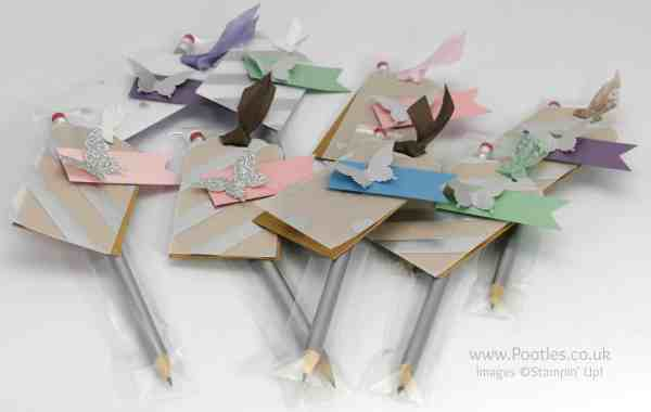 Stampin' Up! Demonstrator Pootles - Stampin' Up Customer Thank You Wrapped Pencils Selection