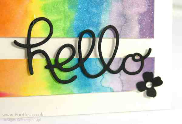 Stampin' Up! Demonstrator Pootles - Watercolouring - a new addiction...! Hello You Thinlits