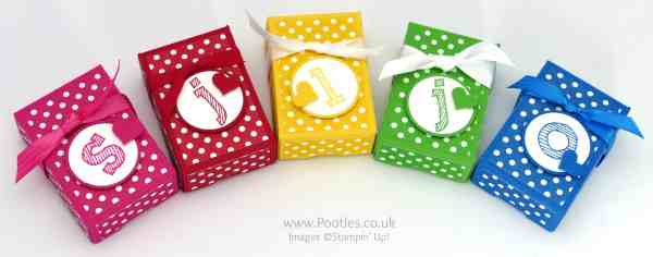 Stampin' Up! Demonstrator Pootles - Way Back Wednesday 3 2 1 Box Tutorial 5 colours
