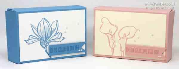 Stampin' Up! Demonstrator Pootles - Fold Flat Box using Stampin' Up! Remarkable You