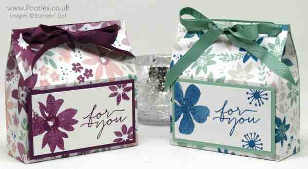 Stampin' Up! Demonstrator Pootles - Soft Pretty Box using Stampin' Up! Blooms & Bliss & Wishes