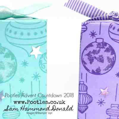 Pootles Advent Countdown 2018 #24 Beautiful Baubles Hand Stamped Box Tutorial
