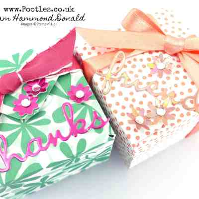 SpringWatch 2019 Double Jumbo Tealight Envelope Punch Board Box Tutorial