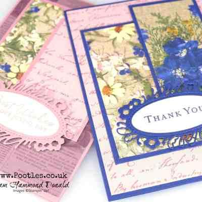 Pressed Petals Layering Card Idea