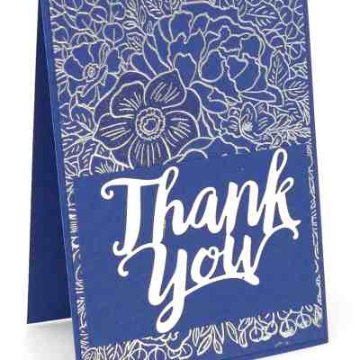 Heat Embossing the Breathtaking Bouquet with Thank You Dies