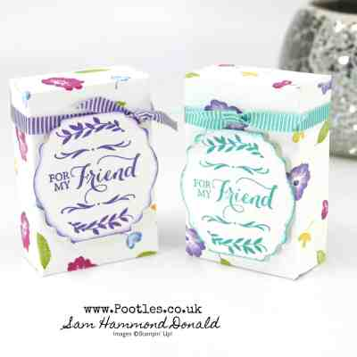 Easy 3, 2, 1 hand stamped box tutorial