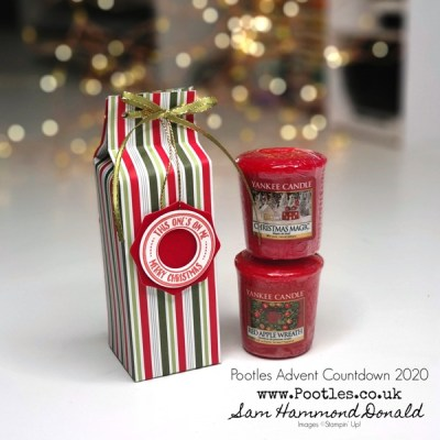 Pootles Advent Countdown 2020 How To Make a Pinch Topped Box for 2 Votive Candles