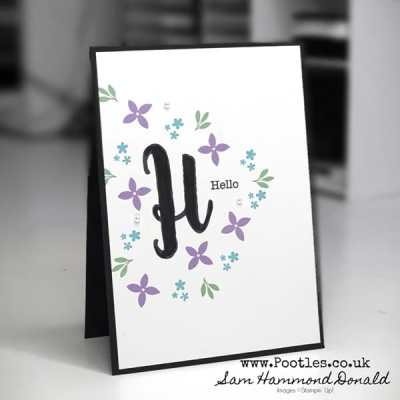 A Great 'Just Because' Card using Monogram Messages