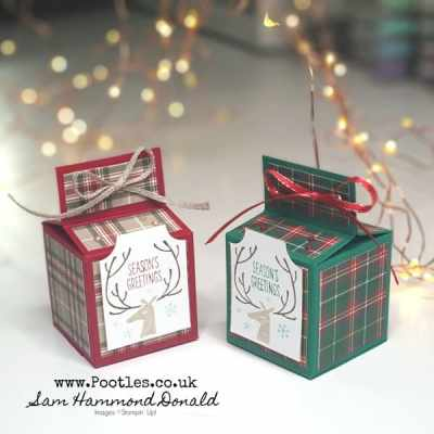 Easy Cubed Box Tutorial using Everything Essential and Tartan Paper
