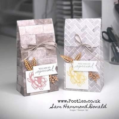 Stylish Folded Top Gift Bag Tutorial using In Good Taste
