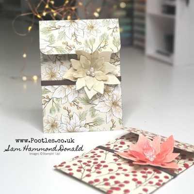 Carol's Poinsettia Card Bag Tutorial!