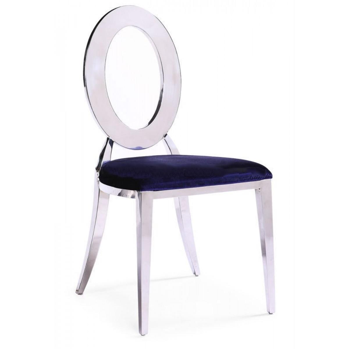 chaises en inox design royal lot de 6