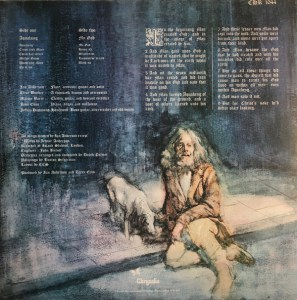 Jethro Tull – Aqualung LP Back Cover