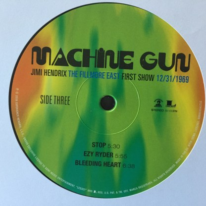 Jimi Hendrix – Machine Gun The Fillmore East First Show Side 3