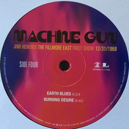 Jimi Hendrix – Machine Gun The Fillmore East First Show Side 4