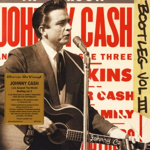 Johnny Cash – Bootleg Vol III Live Around The World LP Cover