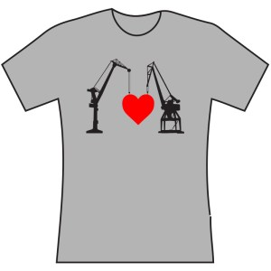 Crane love T-shirt grey